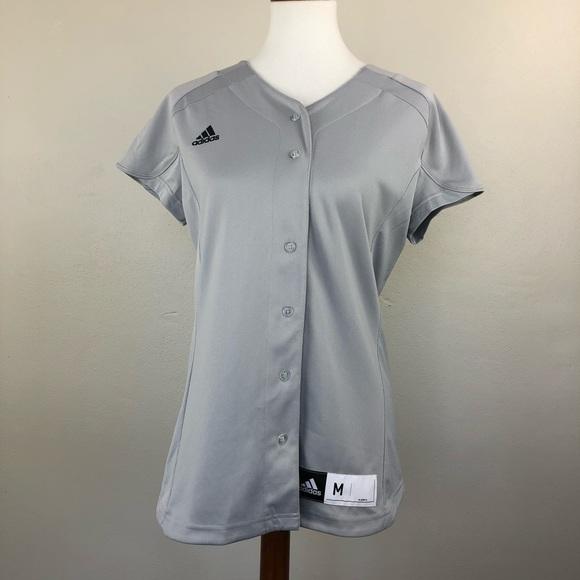 Adidas Womens Climalite Baseball Jersey Shirt M